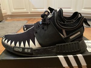 Adidas NMD R1 Primeknit Neighborhood Core Black 9.5M for Sale in Las Vegas, NV