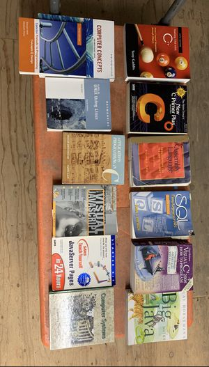 Computer, programming books. Will hold until tomorrow/Wednesday/. for Sale in Bellevue, WA