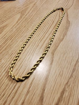 Men's large gold rope chain for Sale in Pompano Beach, FL
