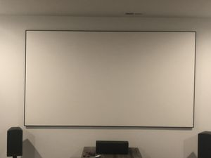 120' diagonal thin-bezel fixed projection screen for Sale in Noblesville, IN