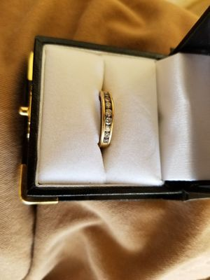 14 karat gold and diamond engagement and wedding ring for Sale in Hollister, CA