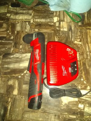 Milwaukee m12 right angle drill one battery and charger for Sale in Garner, NC