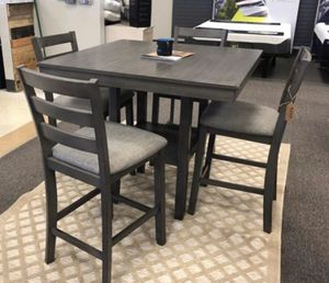(BRAND NEW) 5- PC GREY Breakfast Kitchen Dining Table for Sale in Houston, TX