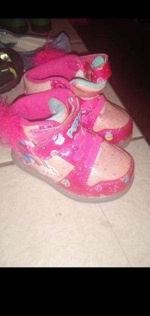 Little girls light up trolls shoes for Sale in Victorville, CA