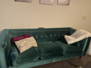 Velvet Green Couch for Sale in Charlotte, NC