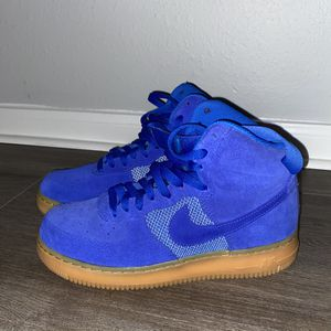 Nike Air Force 1's Blue With Gum Bottom Size 8.5 for Sale in Houston, TX