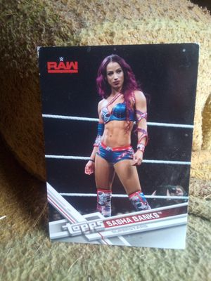 Topps WWE Sasha Banks card for Sale in Ontario, CA