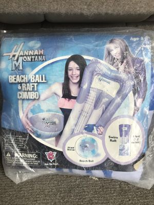 Hannah Montana- Miley cyrus inflatables pool air mattress and beach ball for Sale in San Diego, CA