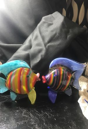 Glass art collection fish for Sale in Piedmont, CA