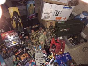 Collectibles toys ,& Rock&Roll comics,Gi Joe Action Figures,Motorcycles,Tanks,Gi joe Guns ,Star Wars, Old Atrie Game System,and Games , ,More for Sale in Elk Grove, CA
