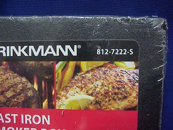 BRINKMANN Cast Iron Barbecue BBQ Smoker Box New