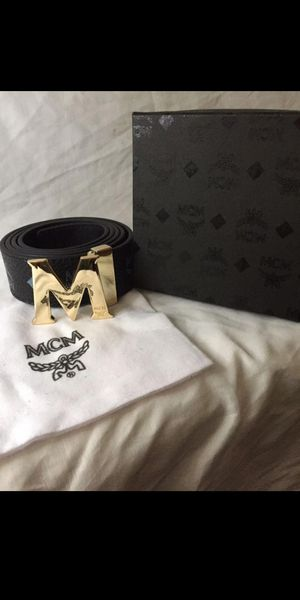 Mcm belt still on the box size 40. New new never used for Sale in Dallas, TX