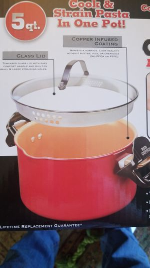 Red Copper Better Pasta Pot 5 Quart for Sale in Spring Valley, CA