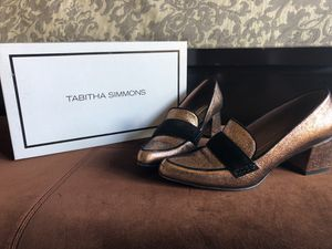 Tabitha Simmons Margot Rose-gold Cracked Metallic Heels for Sale for sale  Issaquah, WA