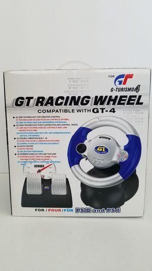 GT Racing Wheel Gran Turismo 4 for PlayStation 1 & 2 PS1 PS2! Steering Wheel Controller, Near Mint Box & Controller! Never Used! for Sale in Las Vegas, NV