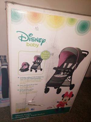 Minnie Mouse Disney stroller and car seat for Sale in Tracy, CA