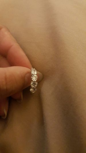 Women fashion silver plated white sapphire wedding ring size 7 for Sale in Riverside, CA