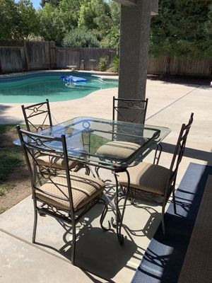 Glass Table and Four Chairs for Sale in Clovis, CA