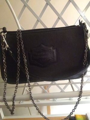 Harley Davidson leather purse. Harley Davidson on front, and rear. for Sale in Berea, OH
