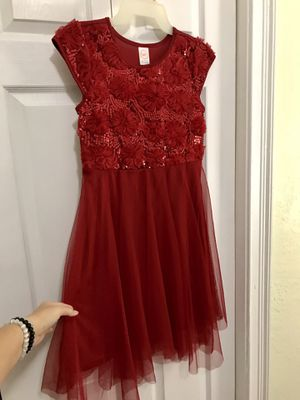 Girl's Red Dress - Flowers & Sequins for Sale in Tampa, FL