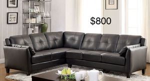 $50 down / New black leather sectional couch/FREE DELIVERY for Sale in Beverly Hills, CA