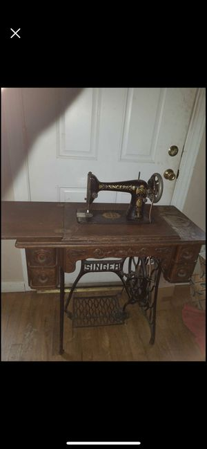 Singer treadle base sewing machine for Sale in Vancouver, WA