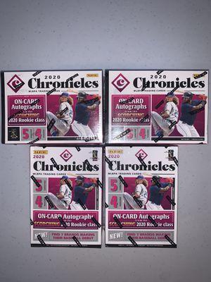 2020 Panini4 Chronicles Baseball Blaster Boxes Factory Sealed for Sale in Las Vegas, NV