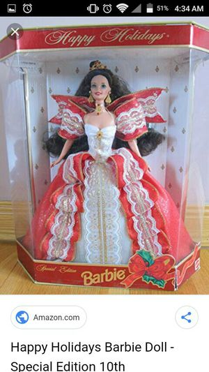 10th anniversary edition Holiday Barbie 1997 for Sale in Wichita, KS