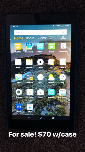 Fire Amazon HD 8 (7th Generation) tablet w/case for Sale in Nashville, TN