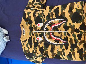 BAPE Shark WGM camo shirt- Adult M for Sale in Key Biscayne, FL