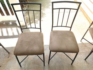 Black and Tan Dining Room/ Kitchen Table Chairs for Sale in Lithonia, GA