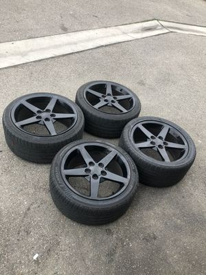 Corvette C6 gloss black wheels rims and tires for Sale in Hawthorne, CA