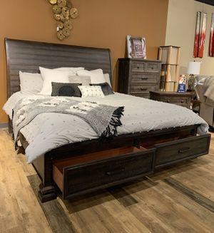 NEW King or Queen Rustic Wood Platform Storage Bed - Sets Available for Sale in Charleston, SC