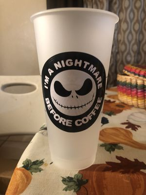 Nightmare before Christmas Starbucks cup for Sale in Patterson, CA