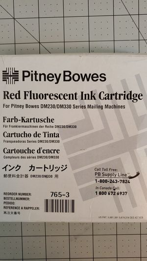 Putney Bowes 765-3 Red Fluorescent Ink for Sale in Littleton, CO