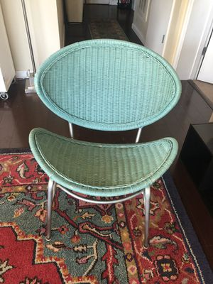 Pier 1 Turquoise Wicker Chair for Sale in Washington, DC