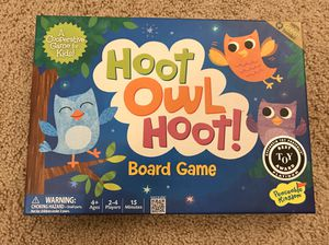 Hoot Owl Hoot award winning board game by Peaceable Kingdom for Sale in Tigard, OR