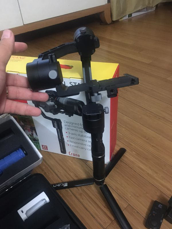 3-Axis Gimbal stabilizer and accessories