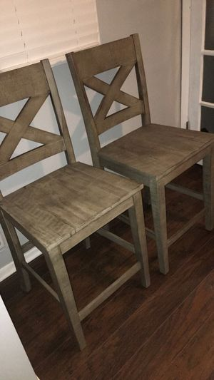 "Modern pair of two rustic stool chairs 24"" $80 price not negotiable firm for Sale in Hammond, IN"