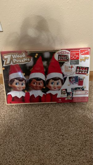 NIB: The Elf on the Shelf Wooden Puzzles for Sale in Chippewa Falls, WI