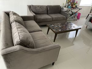 West Elm Paidge Sofa light grey set of two for Sale in Miami, FL