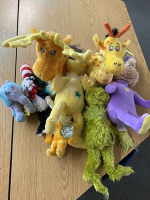 Collection of Dr. Seuss stuffed animals for Sale in Olympia, WA