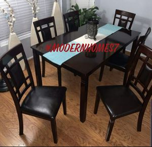 Solid wood dining table set with 6 chairs for Sale in Corona, CA