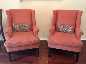 Red wingback chairs for Sale in Pass Christian, MS
