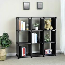 9 Cube DIY Storage Shelves Open Bookshelf Closet Organizer Rack Cabinet Black ulsn45bk for Sale in City of Industry,  CA