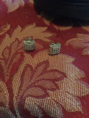 Sterling silver real diamond earrings for Sale in Winston-Salem, NC