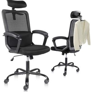Office Chair, High Back Ergonomic Mesh Desk Office Chair with Padding leather Armrest and Adjustable Headrest Black for Sale in Santa Fe Springs, CA