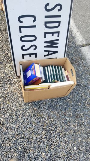 Free books, girls clothes, signs, kids knee pads, misc junk for Sale in Seattle, WA