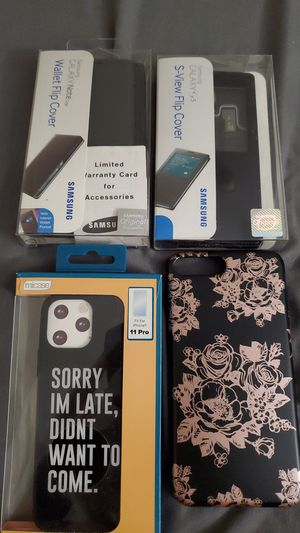 Phone Cases. Samsung GALAXY S5, Samsung GALAXY Note Edge, iPhone 11 Pro and iPhone 7 plus for Sale in Boston, MA