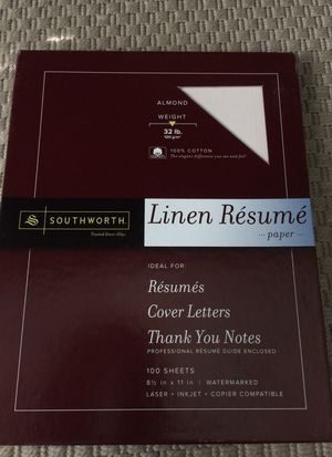Professional linen resume paper for Sale in Tampa, FL